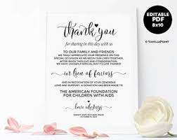 wedding signs template donation sign etsy