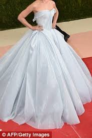 zac posen light up gown claire danes channels cinderella at the met gala in a light up baby