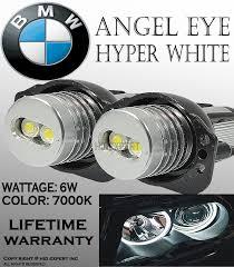 one pair e90 e91 63117161444 bmw angel eye halo ring led bulbs 7k