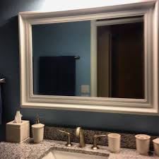 framing bathroom mirror with molding frame bathroom mirror