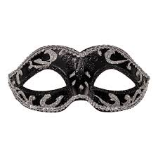 masquarade mask blue banana masquerade mask black silver blue banana uk