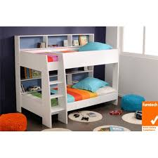 Latitude Single Bunk Bed White Bunk Beds Kids Bedroom Kids - King single bunk beds