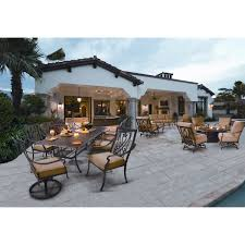 Beachmont Outdoor Patio Furniture Saratoga 11 Piece Patio Dining Collection