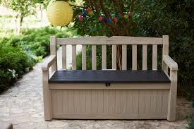 Outdoor Storage Bench Waterproof Exterior Outdoor Storage Tote Bench Storage Outside Garden