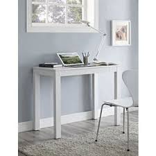Writing Desk With Drawer by Single Drawer White Parsons Desk Free Shipping Today Overstock