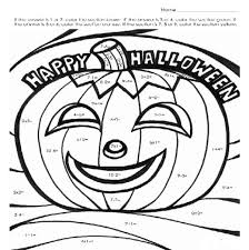 100 ideas halloween multiplication coloring sheet on