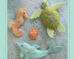 mini felt sea creatures plush set 1 pdf sewing pattern felt