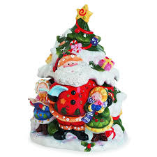 amazon com singing santa collection tree cookie jar kitchen