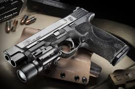 smith and wesson m p 9mm tactical light smith wesson m p gun weapon flashlight hd wallpaper