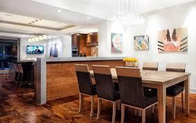 Light Wood Dining Room Furniture Half Height Wall Dining Room Contemporary With Light Wood Dining