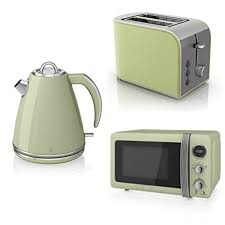Retro Toaster And Kettle Swan Kitchen Appliance Retro Set 20l Green Microwave 1 5l Green