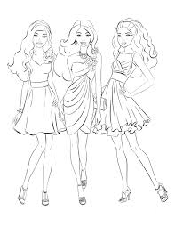 barbie coloring pages barbie coloring pages two more coloring