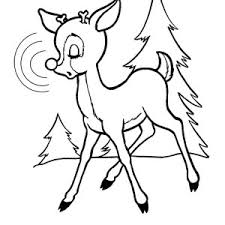 rudolph red nosed reindeer coloring kids rudolph