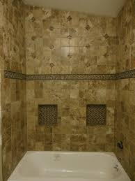 Built In Shower by Garden Tub Bathtub Design Gray Tiles Home Remodel