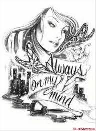 always on my mind gangsta tattoo design tattoo viewer com