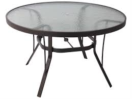 Umbrella Hole Ring Set by Bar Furniture Black Glass Patio Table Shop Patio Tables At