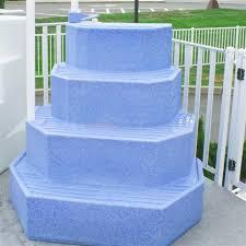 wedding cake pool steps merlin ag pool step aqua staircase the king 30125