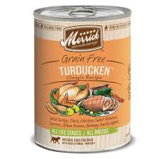 merrick classic grain free turducken canned dog food petco