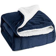 Throws For Sofa by Amazon Com Sherpa Throw Luxury Blanket Navy Blue 50x60 Reversible