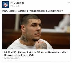 Aaron Hernandez Memes - nfl memes nfl 2 hrs injury update aaron hernandez neck out