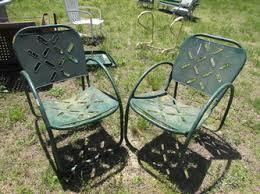 vintage metal chairs and retro patio tables vintage metal