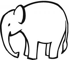 simple elephant clipart outline clipartxtras