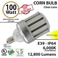 100w led corn bulb lamp replaces 450 watt hps light 12800 lumens