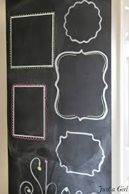 a diy chalkboard wall