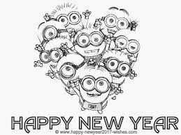 new years coloring pages coloring page
