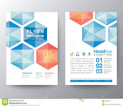 graphic design templates for flyers abstract hexagon poster brochure flyer design template layout stock