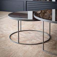 round nesting coffee table notre monde round nesting coffee table bronze ethnicraft