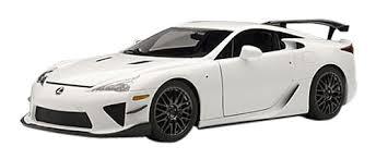 lexus lfa model amazon com lexus lfa nurburgring package whitest white toys