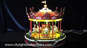 lemax 34682 santa carousel youtube