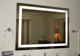 Tall Wall Mirrors Amazon Com Wall Mounted Lighted Vanity Mirror Led Mam84836