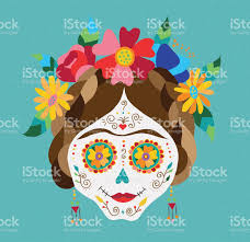 Spring Decoration by Mexico Day Of The Dead Skull And Spring Decoration Stock Vector