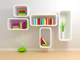 bedroom tasty creative bookshelves modern and modular metal wall