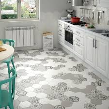 vintage home interior hexagon kitchen floor tiles tiles design large kitchen hexagon floor