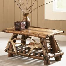 Rustic Coffee Tables Rustic Lodge Coffee Table U0026 Matching Accessory Tables Tin Pig
