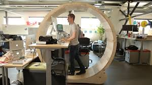 hamster wheel standing desk 10 steps with pictures