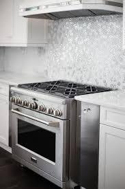 metallic kitchen backsplash silver mosaic metallic kitchen backsplash tiles design ideas