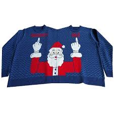 two person sweater santa stupid