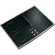 Ge Downdraft Cooktop Shop Ge Profile 5 Element Smooth Surface Downdraft Electric