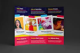 kid u0027s party trifold brochure template for photoshop u0026 illustrator