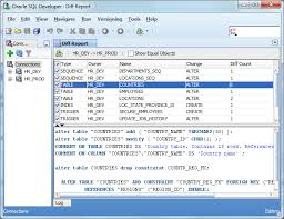 Create Table Oracle Sql Comparing Two Oracle Database Schemas Is Simple Now