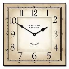 Modern Bedroom Wall Clocks Waltham Square Clock The Big Clock Store