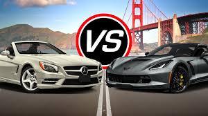 corvette z06 spec 2016 mercedes sl550 vs chevy corvette z06 spec comparison