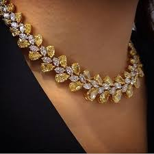 yellow diamond necklace images 493 best 1necklace images diamond necklaces jpg