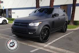 mercedes land rover matte black range rover autobiography wrapped in 3m deep matte black car wrap