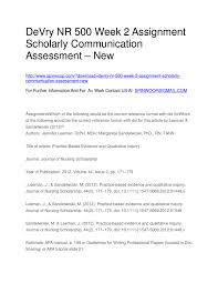 how to write a scholarly paper nursing devry nr 500 week 2 assignment scholarly communication assessment devry nr 500 week 2 assignment scholarly communication assessment new by bhatisahb issuu