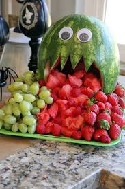 Easy Healthy Halloween Snack Ideas Cute Halloween Fruit And Watermelon Monster For Halloween Halloween Diy Pinterest